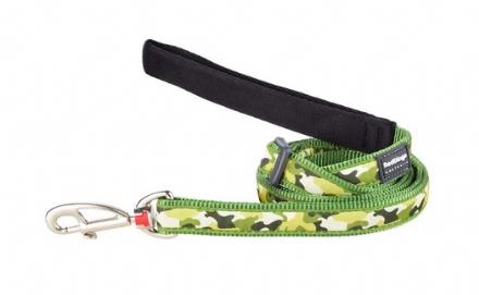 Green Camouflage Dog Lead